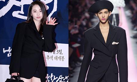 """안소희, 독특한 재킷 패션…""""모델은 어떻게 입었나"""""""