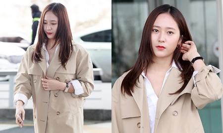 """크리스탈, 가벼워진 공항 패션…""""편안함 강조"""""""