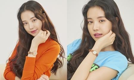 """손나은, 글로벌 브랜드 시계 화보 공개…""""청량해"""""""