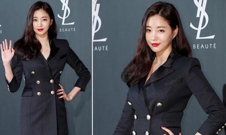"""김사랑, 관능적인 슈트원피스 패션…""""변치않는 미모"""""""
