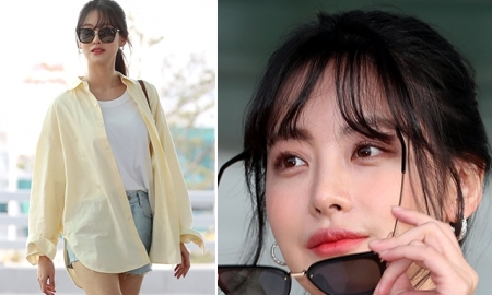 오연서 공항패션…선글라스 벗고 '꽃미모' 과시
