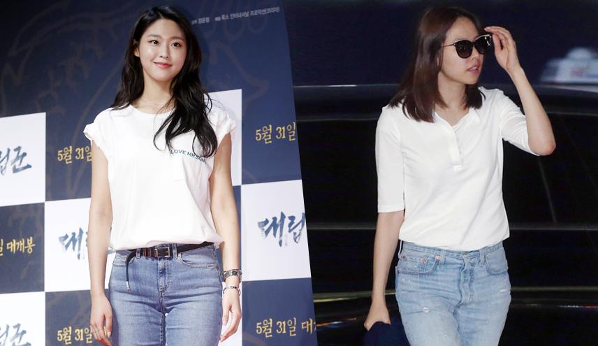 설현 vs 조윤희, 청바지에 흰 티셔츠…승자는?