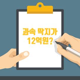 [카드뉴스] 과속 딱지가 12억원?