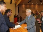 피지 정부 경호원, 인제대 경호무예과정 수료