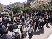 [포토] 상명대 총학생회, 중간고사 기간 맞아 재학생 응원