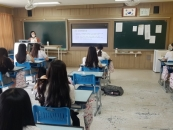 경동대 교수들, 상지여중 방문해 진로특강 펼쳐 '눈길'