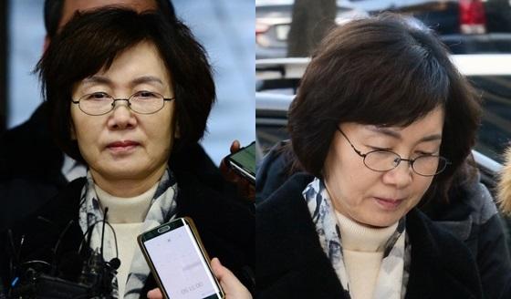 법원 도착한 최경희 전 총장