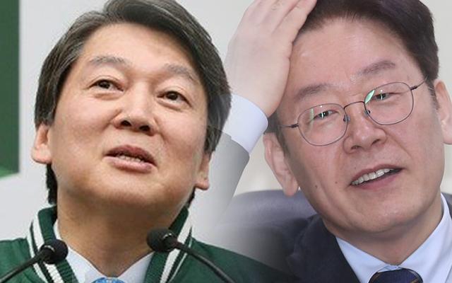 """안철수-이재명, 온라인 브로맨스 """"화이팅""""-""""감사"""""""