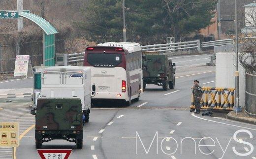 돌아가는 평창패럴림픽 북한 선수단