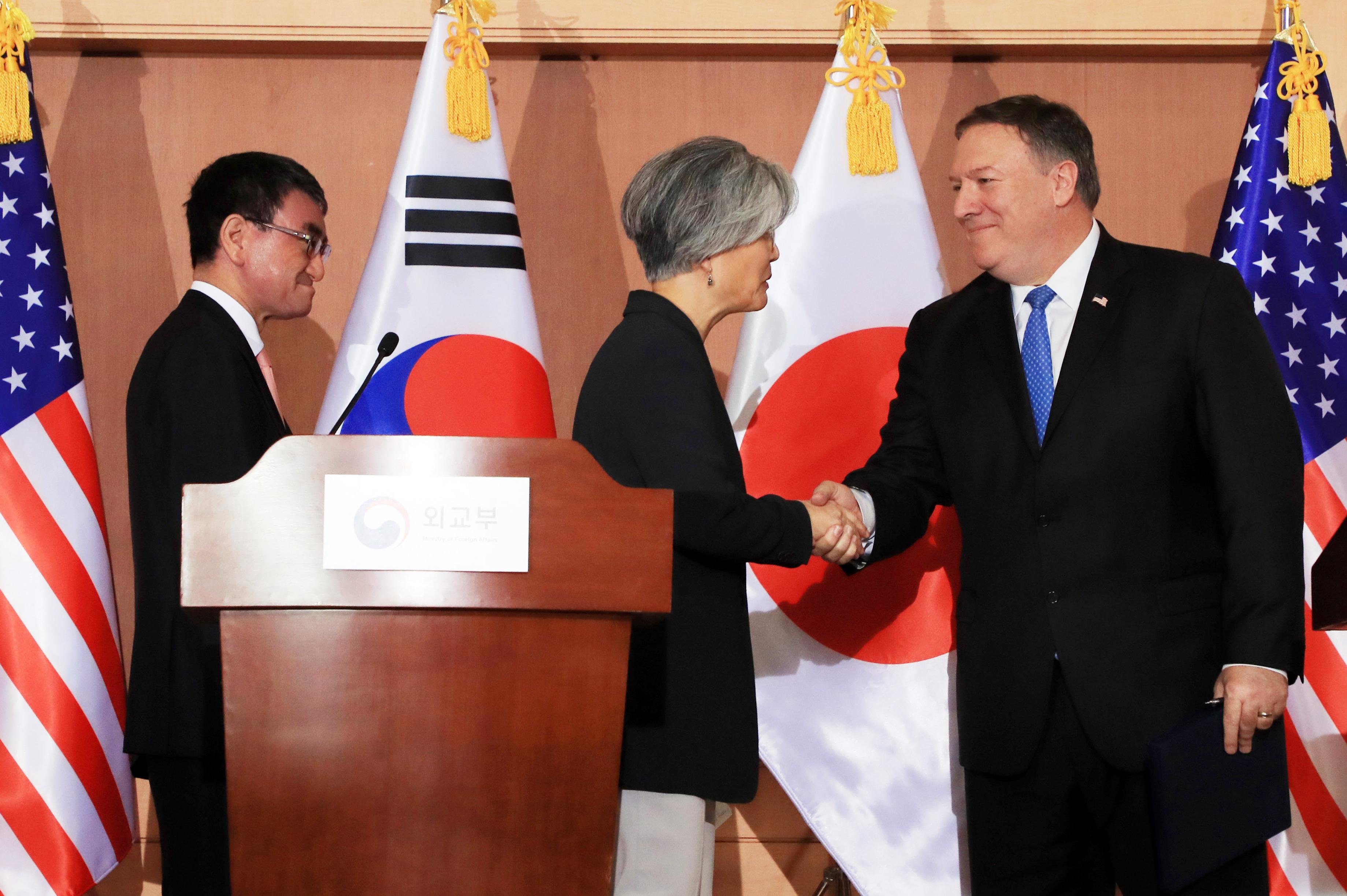 전세계 이목 집중된 한미일 외교장관 기자회견