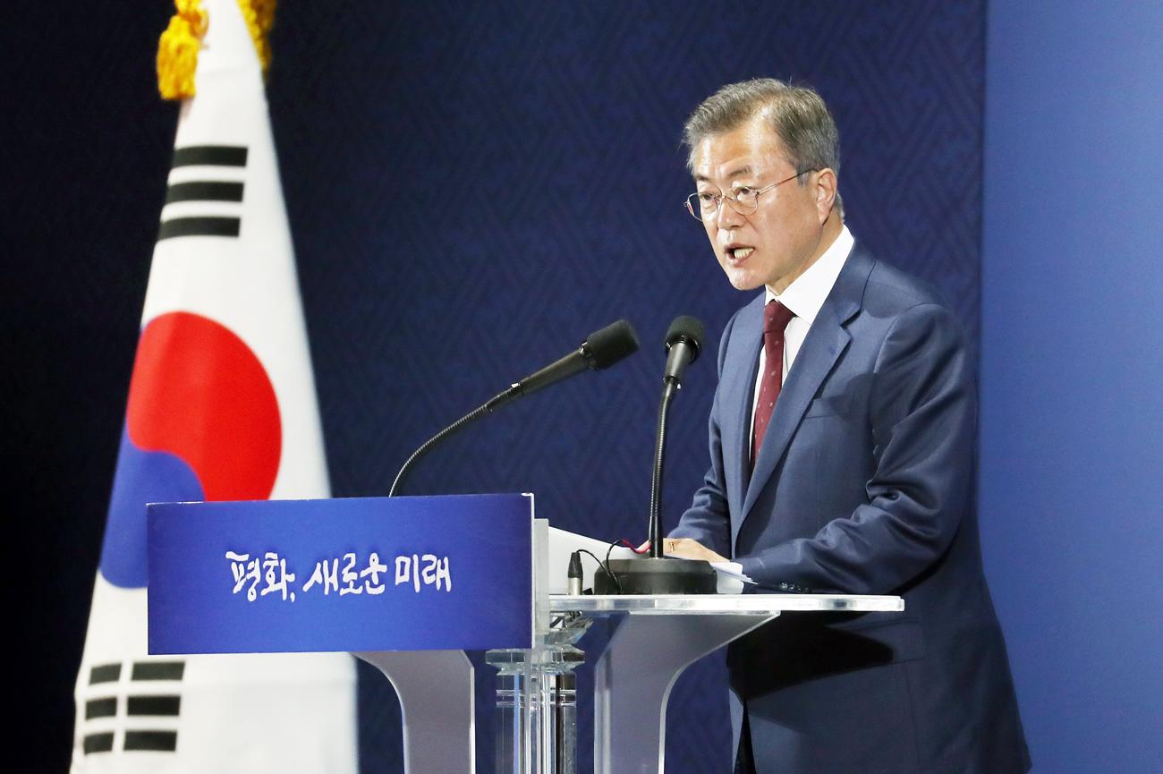 평양 정상회담 마친 문재인, 대국민 보고