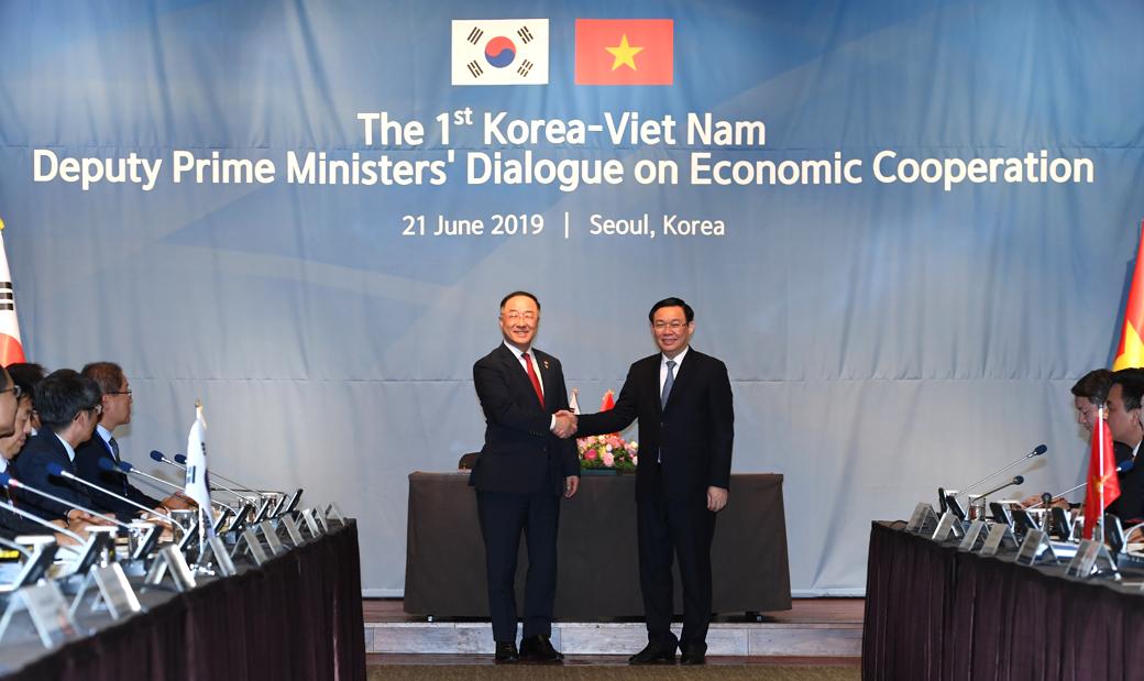 경제협력을 위해 모인 한국과 베트남