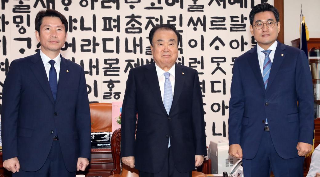 한국당 불참 가운데 진행된 의장-교섭단체 회동