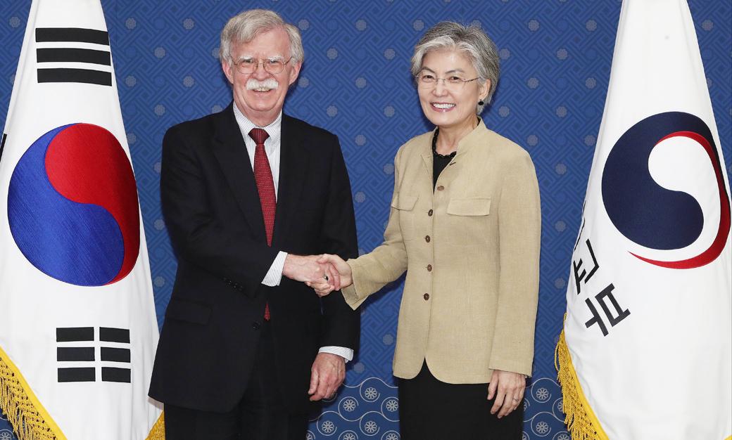 존 볼턴 외교·국방 연쇄 면담