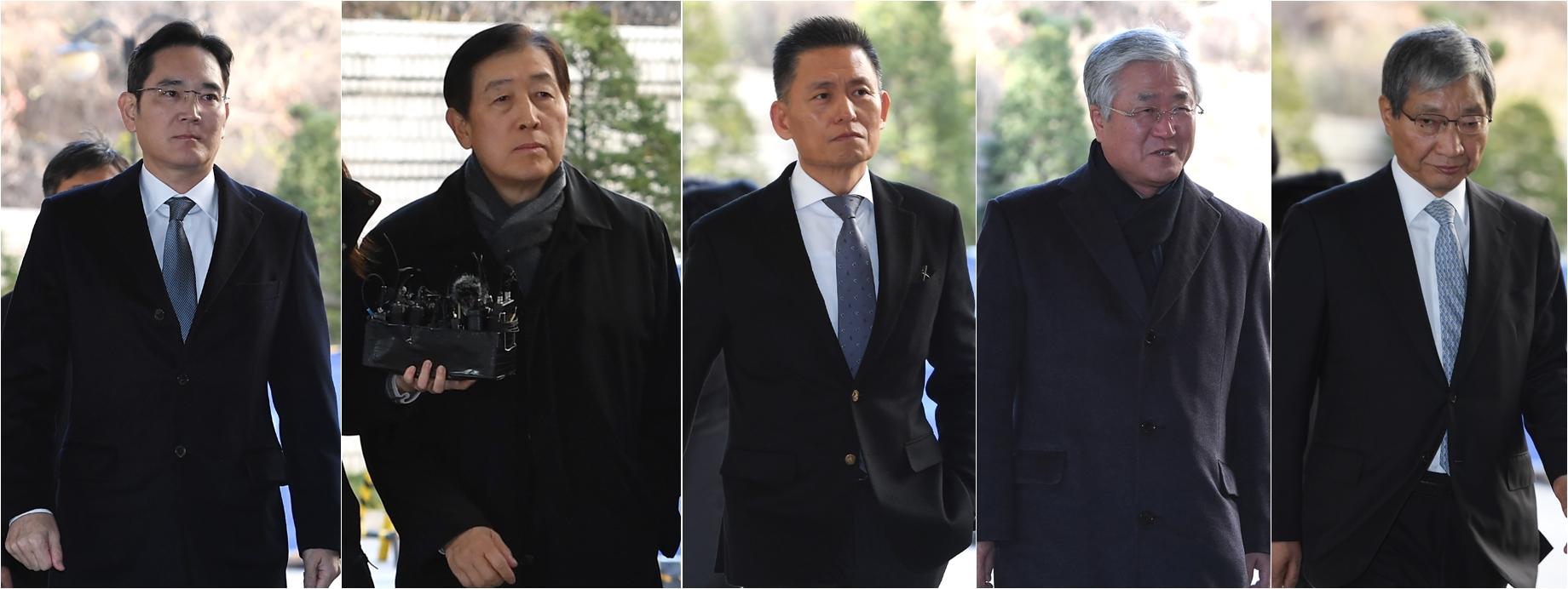 이재용 부회장과 전 임원진 '국정농단' 파기환송심 출석