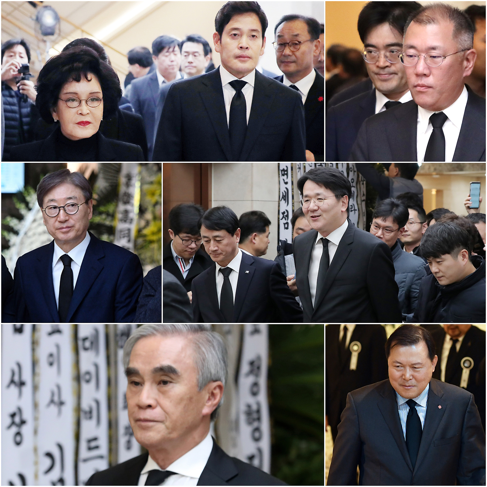 김우중 전 회장 빈소 찾은 재계 인사