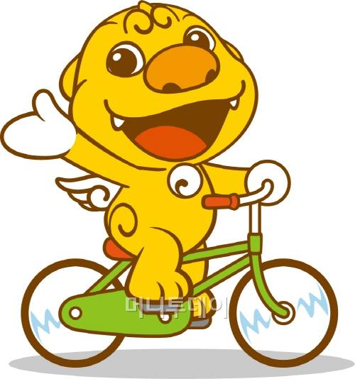 ▲ 자전거 타는 해치(서울시 자료)