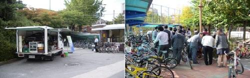 ↑자전거통학시범학교 자전거 무상수리