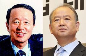 홍원식 남양유업 회장(좌), 김웅 대표