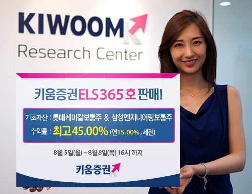 키움증권, 연 최고 15% 수익 ELS 365호 판매