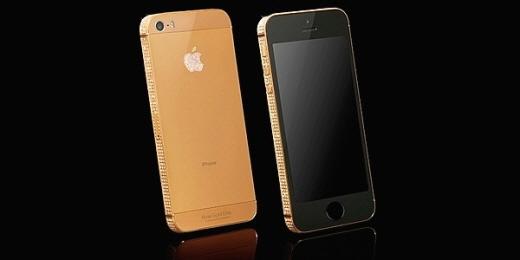 골드지니가 선보인 실제 황금 도금 아이폰5s(사진=골드지니)
