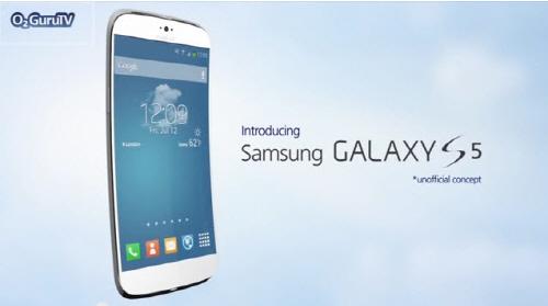상하로 휜 삼성 갤럭시S5 콘셉트 영상 화제