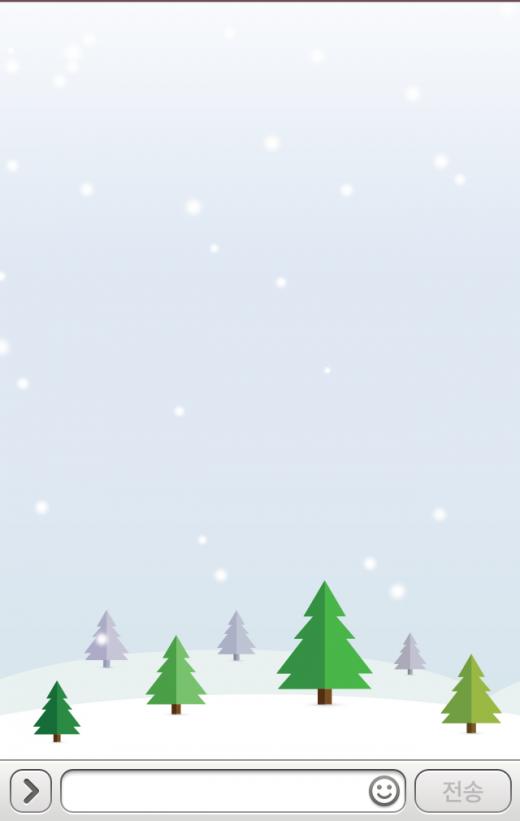 카카오톡, 채팅창에도 눈이 펑펑…