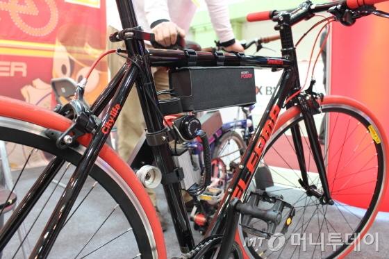하이브리드자전거에 장착된 히든파워 킷/사진=박정웅 기자
