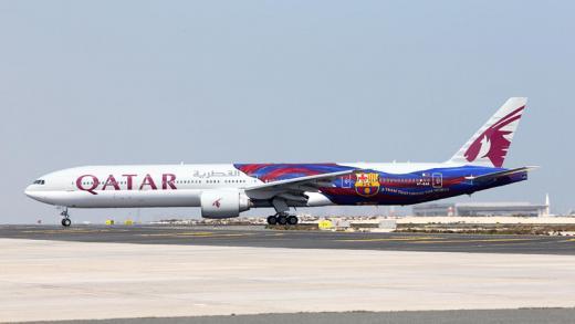 카타르항공, 항공기에 'FC 바르셀로나' 유니폼 입혀