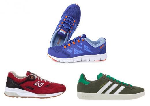 ▲(위에서부터 시계방향) 이엑스알(EXR), 아디다스(Adidas), 뉴발란스(NEW BALANCE)