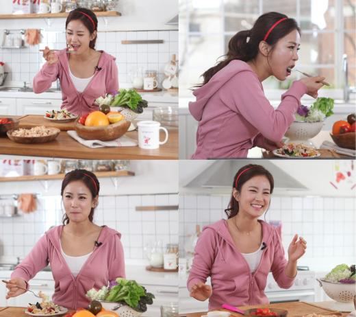 김지민 시리얼 먹방 비하인드 컷..'시리얼 가득, 웃음도 가득'