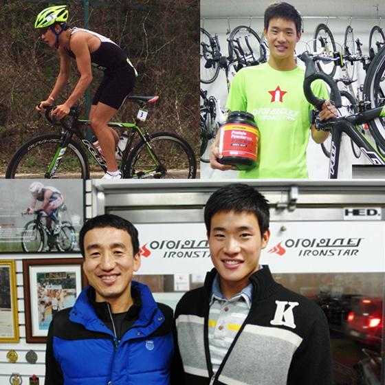 박병훈(43) 프로와 그의 제자 김지환(24·통영시청) 선수가 환하게 웃고 있다./사진=퍼플인사이트 제공