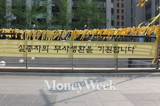[MW사진] 청계천에 걸린 '온국민의 염원'