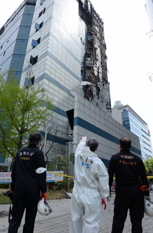 지난 20일 화재가 발생한 경기 과천시 삼성SDS 과천센터 /사진제공=뉴스1 DB