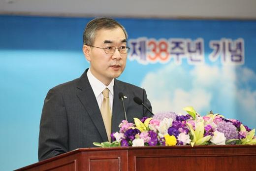 신용보증기금은 30일 서울 공덕동 본사에서 창립 38주년 기념 주간행사를 실시했다. /사진제공=신용보증기금