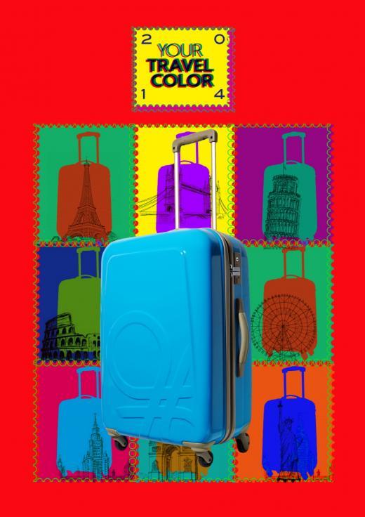 베네통, 伊 직수입 여행용 캐리어 출시…7색 컬러로 개성 연출