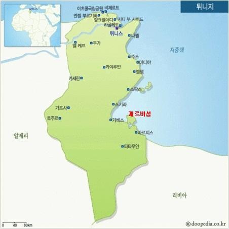 튀니지 해수담수플랜트 위치도 /자료제공=GS건설