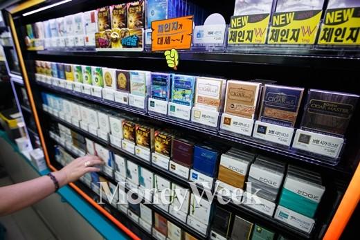 11일 한 편의점의 담배 진열대 /사진제공=뉴스1
