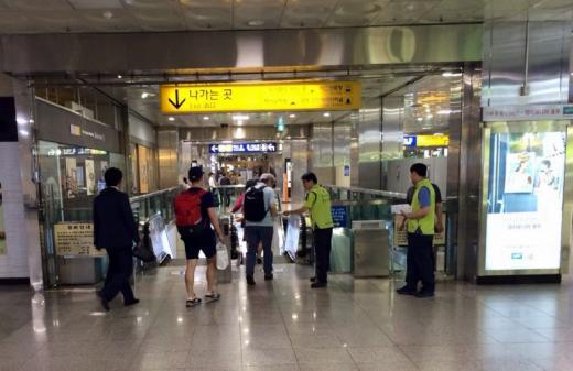 코레일 부산경남본부, '승강기 올바르게 타기' 캠페인 전개