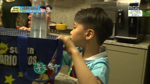 '아빠어디가' 안정환 부자가 일본 향하며 챙긴 물은?