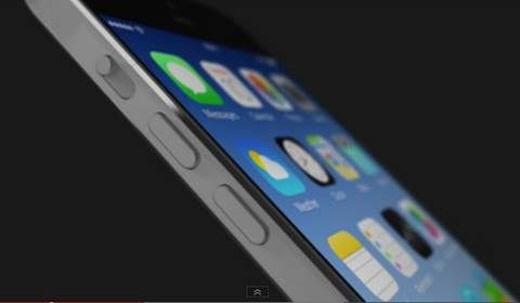 샘 베켓 디자이너의 4.7인치 사파이어글래스 사용을 전제로 한 아이폰6 콘셉트 디자인.