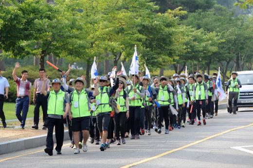 조선대학교 재학생 64명, 330㎞ 국토대장정 출발