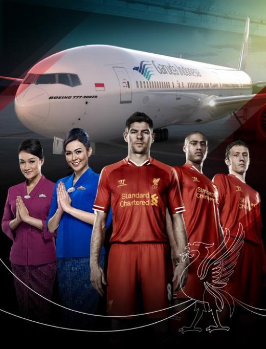 가루다항공, 리버풀FC와 2014/15 시즌 파트너십 체결
