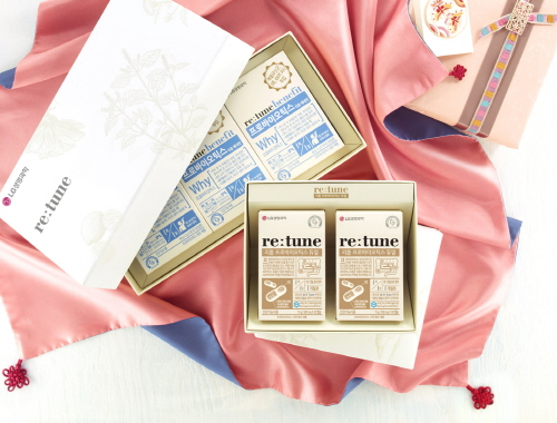 LG생명과학 프리미엄 건강기능식품 브랜드 리튠의 추석 선물 세트