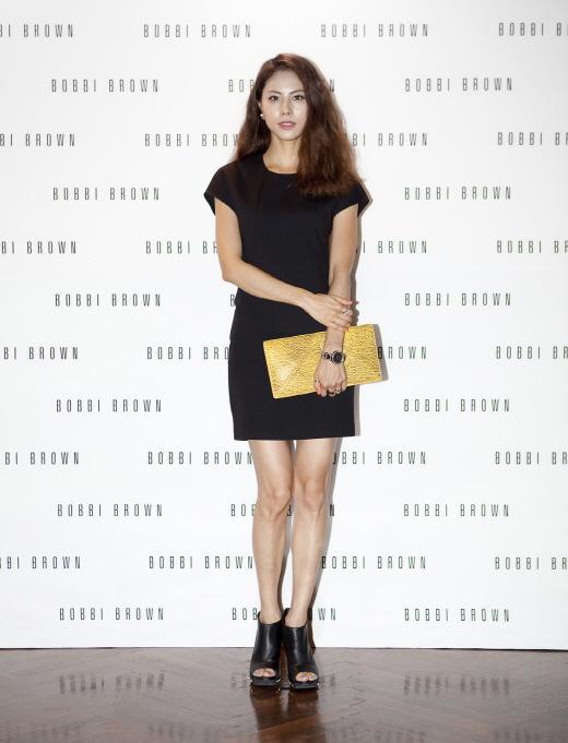 ▲바비 브라운의 새로운 모델로 발탁된 가수 박지윤