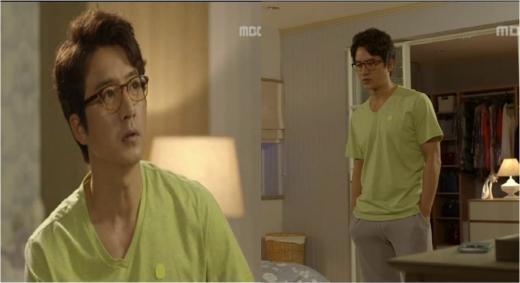 '마마' 정준호, 세련된 홈웨어 룩 '라임색 티셔츠'