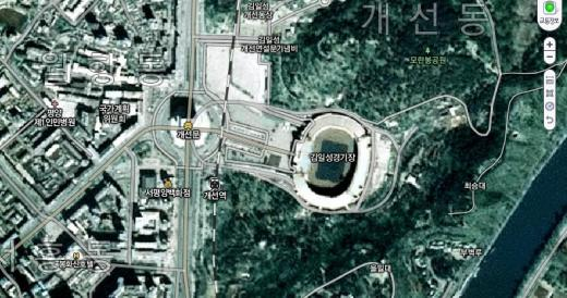다음 최초 제공 북한 지도, 평양거리 손에 닿을 듯 '생생'