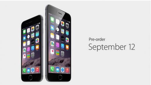 ▲ 9일(현지시간) 애플이 공개한 아이폰6, 아이폰6플러스.