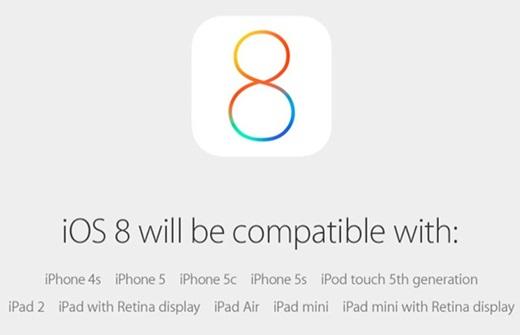 'iOS8'/사진=애플