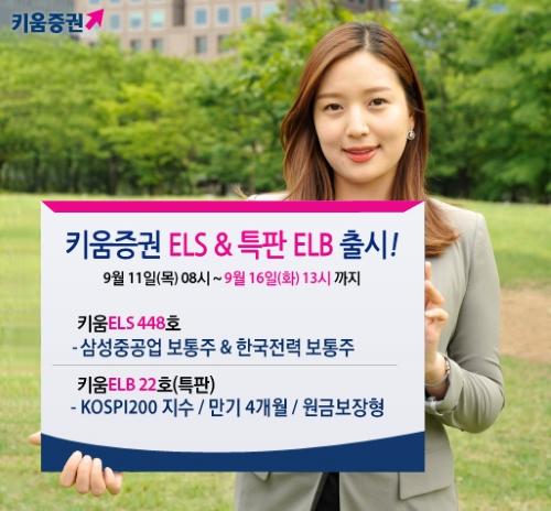 키움증권, 만기4개월 ELB 특판상품·ELS 1종 판매